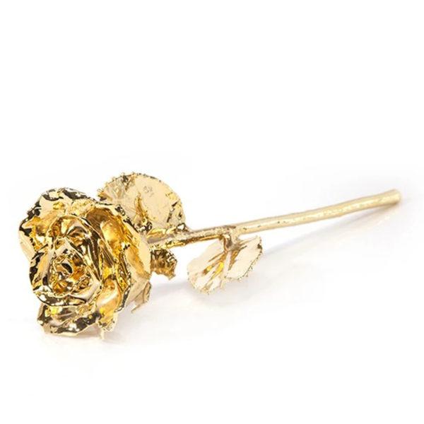 24K Gold-Dipped Natural Rose