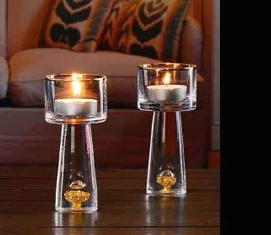 24K Gold Crystal Tealight Holder