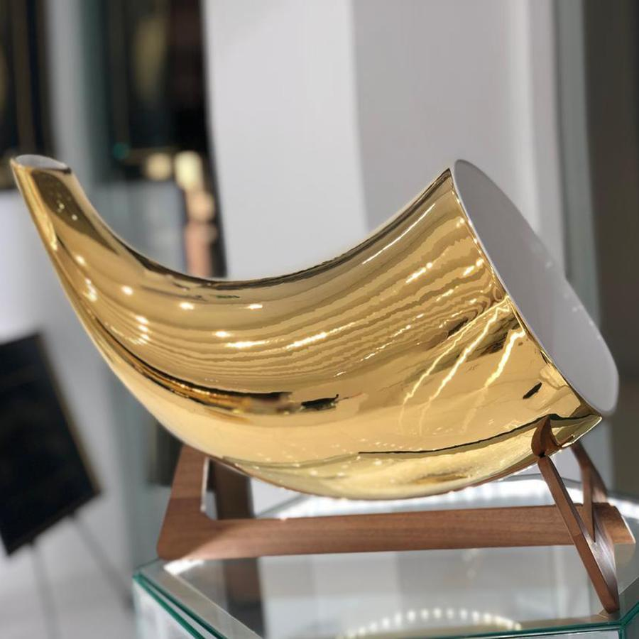 24K Gold Luxury Megaphone iPhone Speaker