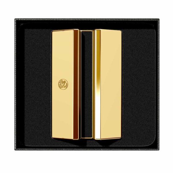 gold desk card holder