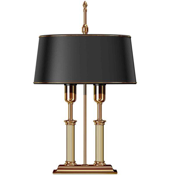 gold lamp desk