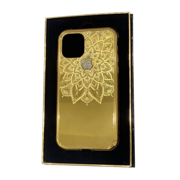 Luxury Gold iPhone 11 Pro and Pro Max Casing Flower with Crystals Limited