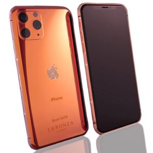 Rose Gold iPhone 11 Pro Max with Swarovski Crystals