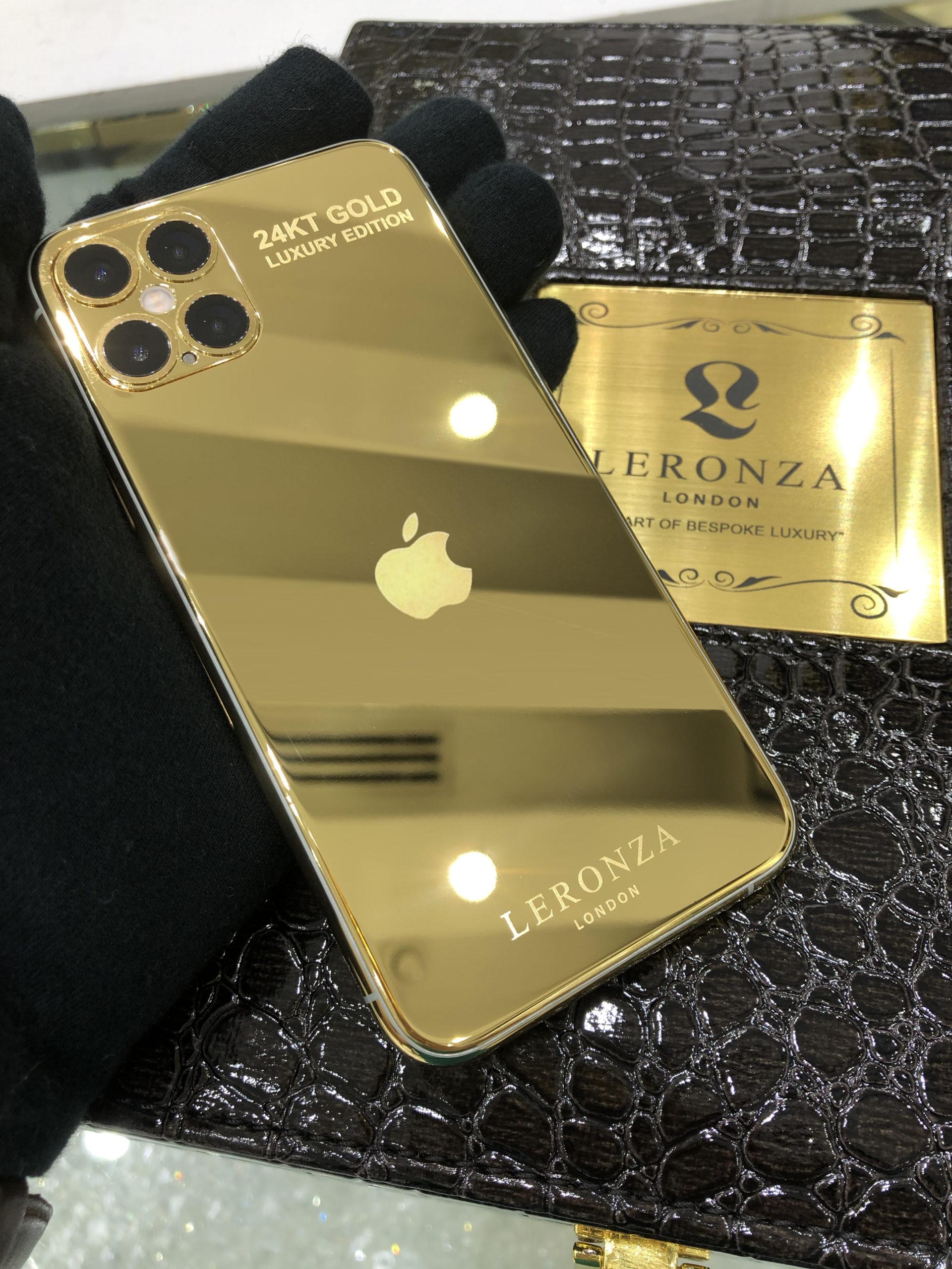 New Luxury 24k Gold iPhone 12 Pro and 12 Pro Max - Leronza