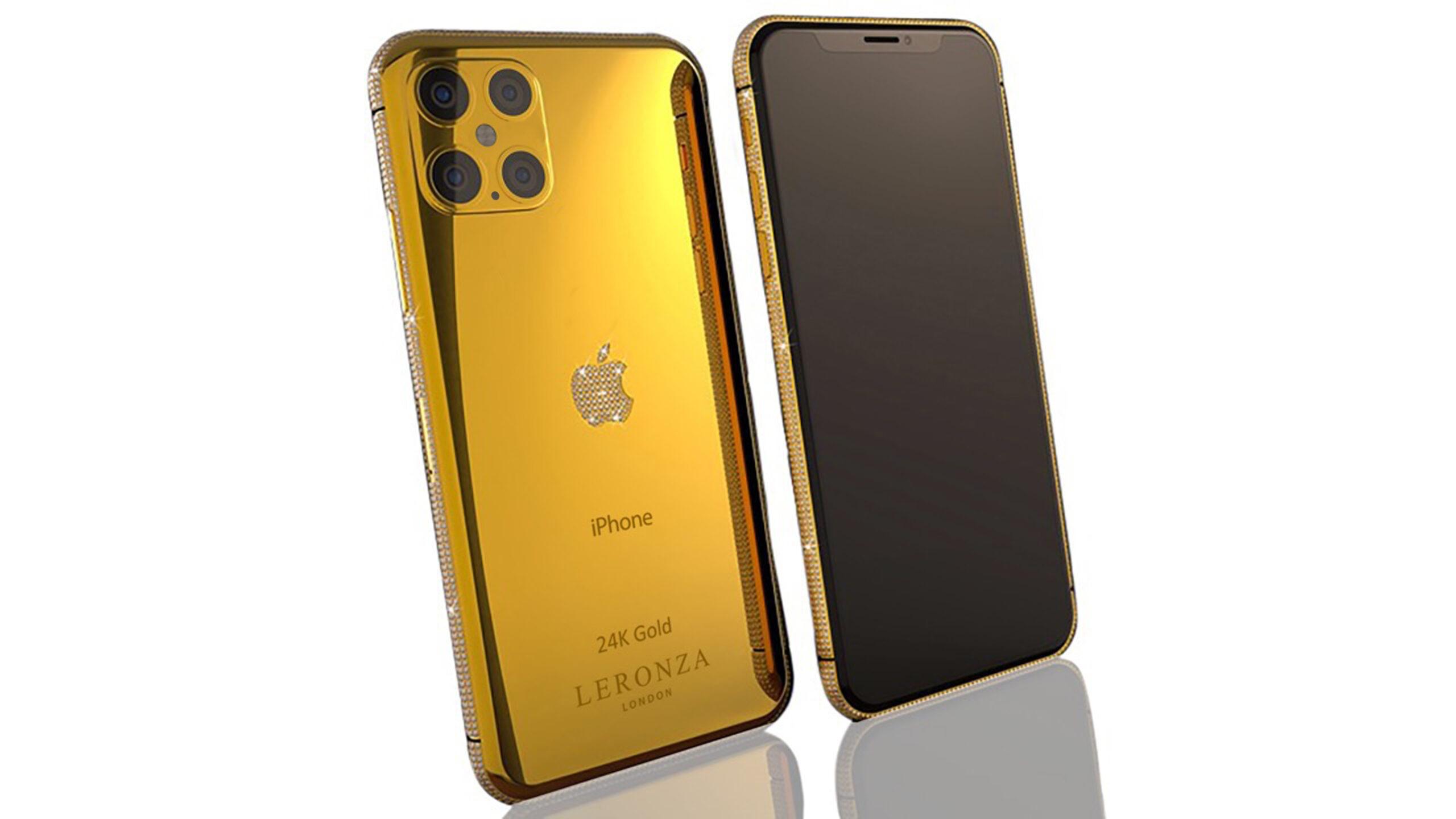 New Luxury 24k Gold Diamond Brilliance Iphone 12 Pro And Max Leronza