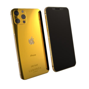 Leronza 24k Gold iPhone 12 Pro Diamonds