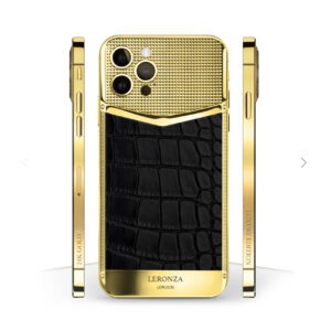 24k Gold iPhone 12 Pro leather Victory Edition Black