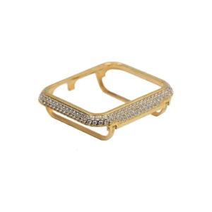 24K Gold Apple watch case with diamonds