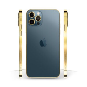 24k Gold iPhone 12 Pro Blue