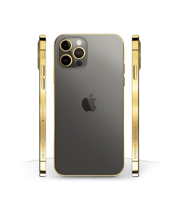 24k Gold iPhone 12 Pro Graphite