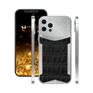 Customized Platinum iPhone 13 Pro and 13 Pro Max | Luxury iPhone with Diamonds | Latest iPhone | iPhone 13 Pro and pro max with crocodile leather design