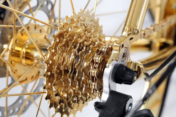 Gold Racing Bike