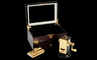 corporate gifts | customized gold pencil sharpener and ink blotter