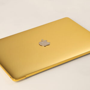 Customized Gold Macbook Pro with Diamond Logo   Most expensive macbook pro