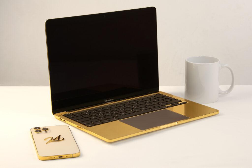 Gold MacBook Pro with Diamonds   Gold Laptop