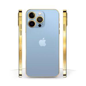 24k Gold iPhone 13 Pro Sierra Blue
